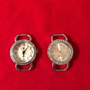 2 watch faces quartz